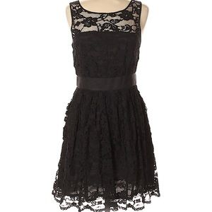 BB Dakota Dresses - Black Lacy Cocktail / Party Dress